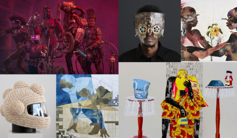 various images from africa's best afrofuturism artists